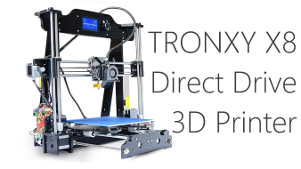 Tronxy X8 3D Printer Unboxing -  What's in the Box - Direct Drive Extruder - Part 1